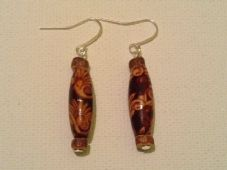 Wooden tube earrings (2)